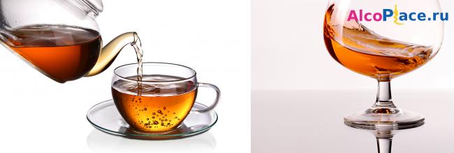 Чай с коньяком — рецепты, пропорции, польза и вред для здоровья