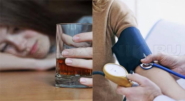 Алкоголь повышает или понижает давление: при запое и с похмелья