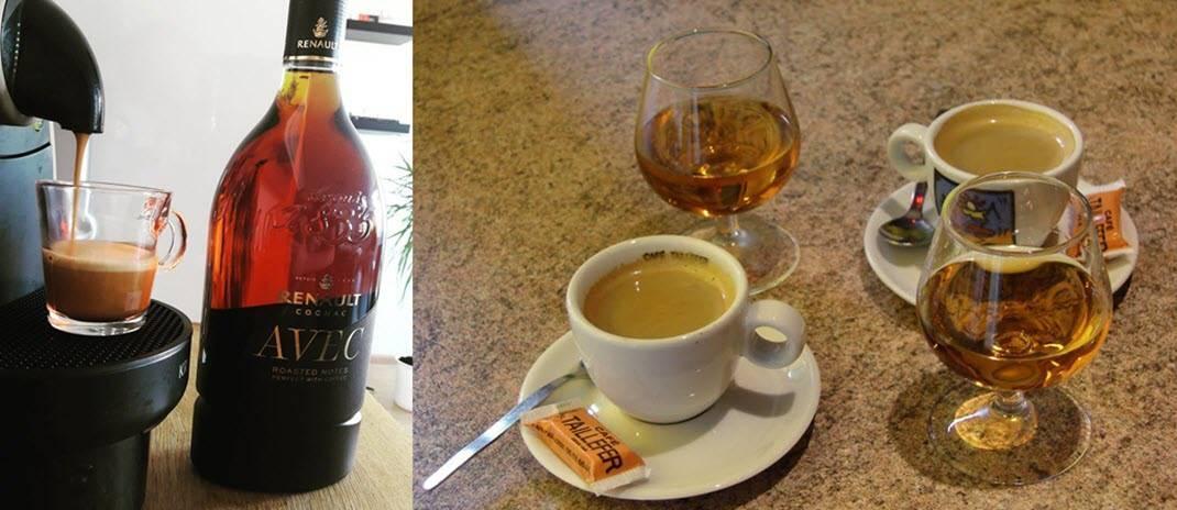 Кофе с коньяком – благородный напиток на французский манер