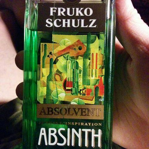 Fruko schulz absinth, gift set with glass and spoon - фруко шульц абсент, подарочный набор со стаканом и ложкой