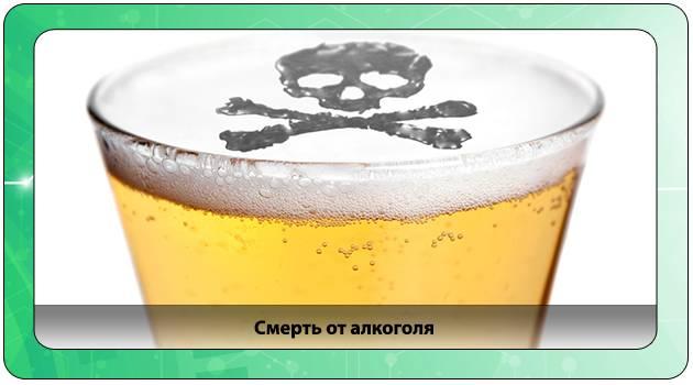 Смерть от интоксикации алкогольными напитками