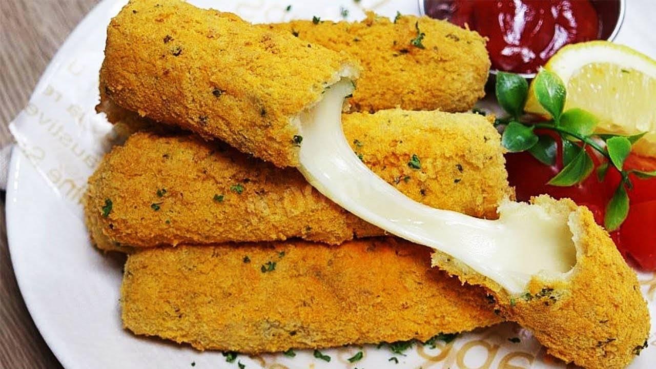 """Рецепт приготовления вкусной закуски """"сырные палочки в панировке"""""""