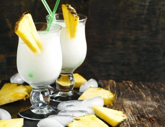 Коктейль пина колада со свежим ананасом рецепт с фото пошагово - 1000.menu