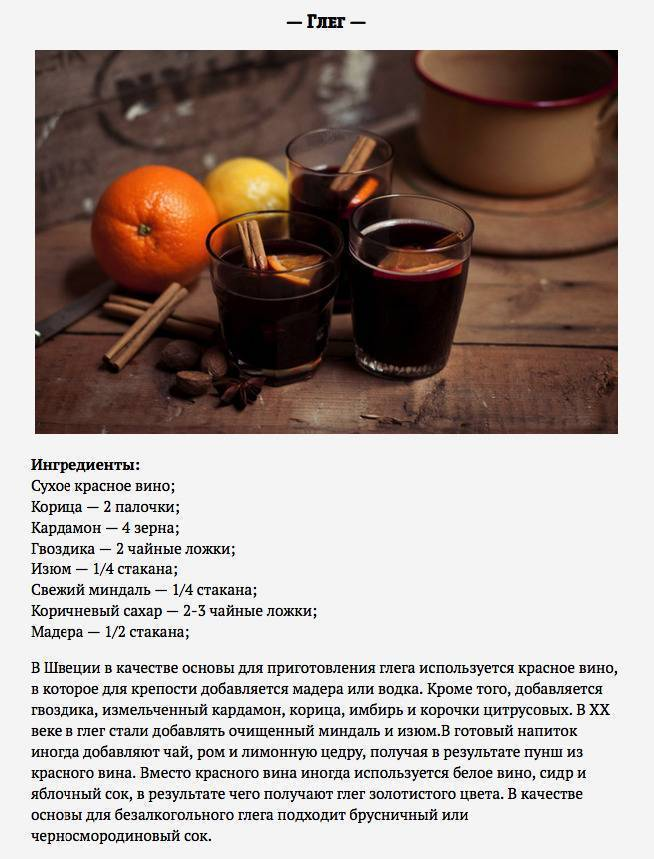 Безалкогольный глинтвейн рецепт с фото