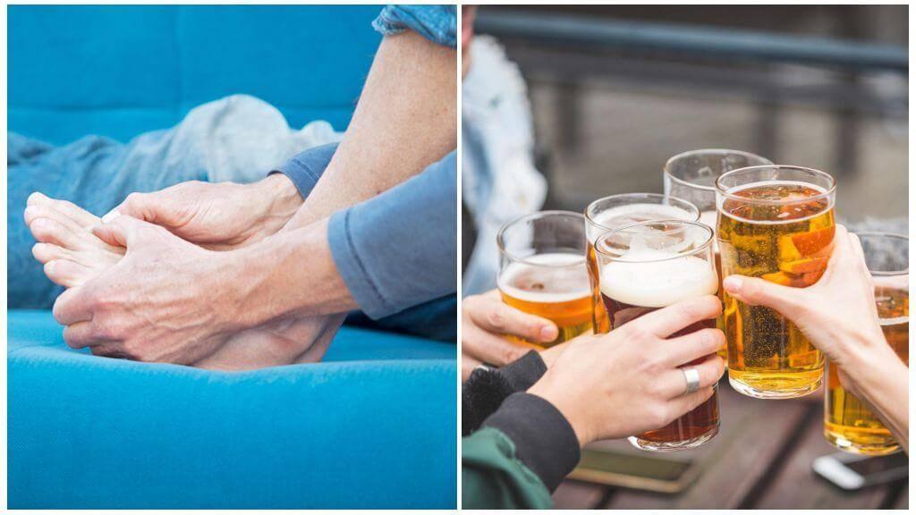 Подагра и алкоголь: можно ли пить водку, вино, пиво, как совмещать