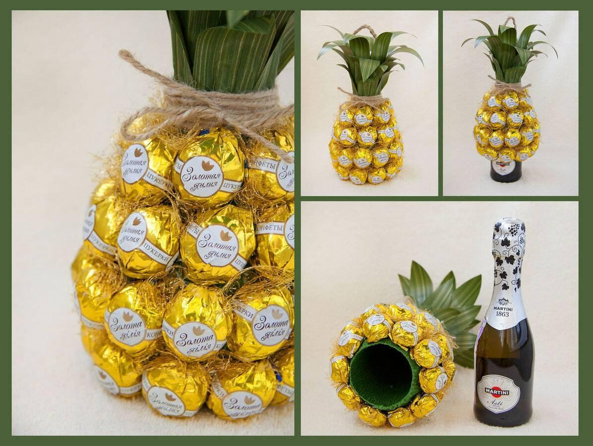 Мк ананас из конфет | страна мастеров