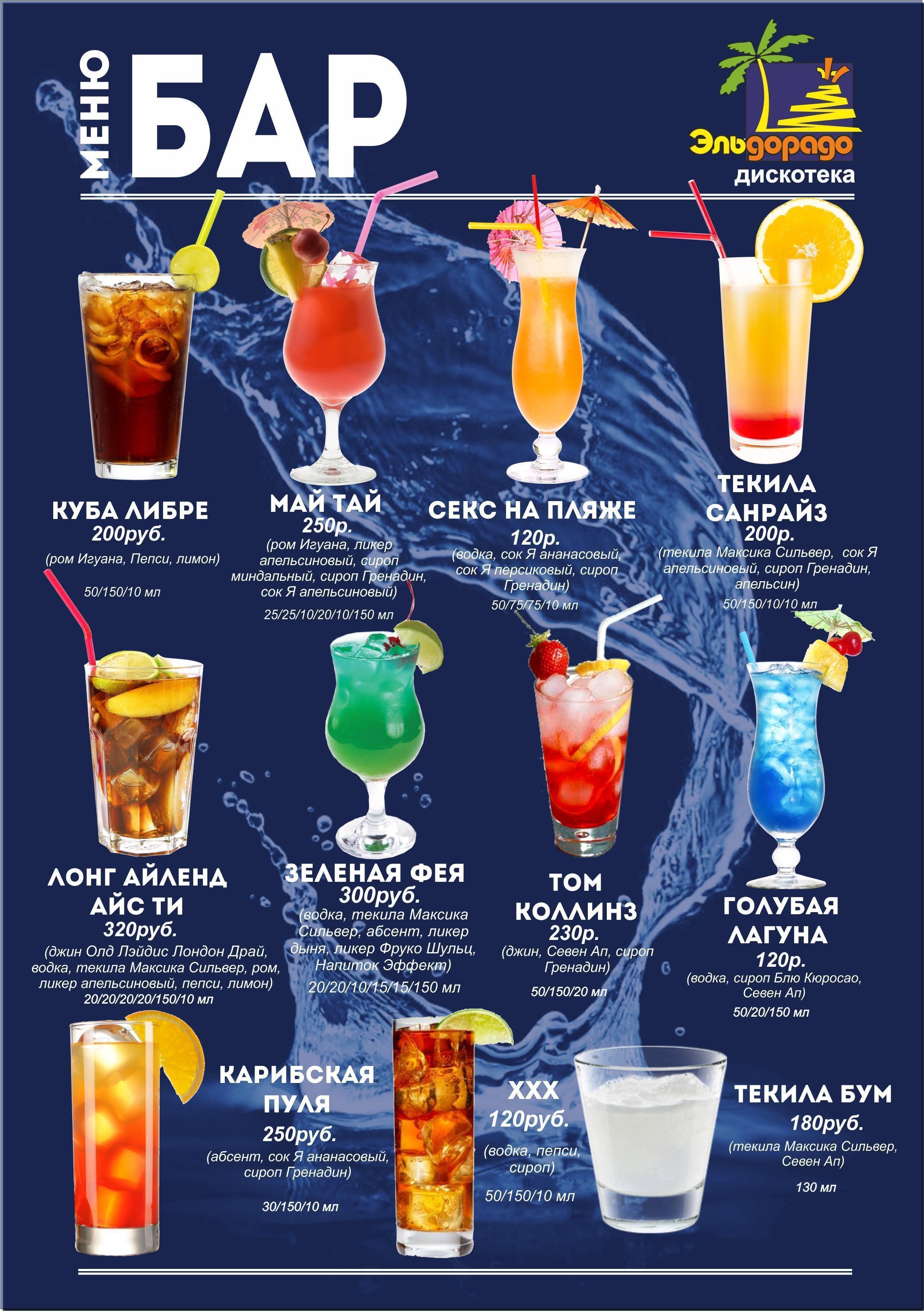 Коктейли с гренадином алкогольные рецепты