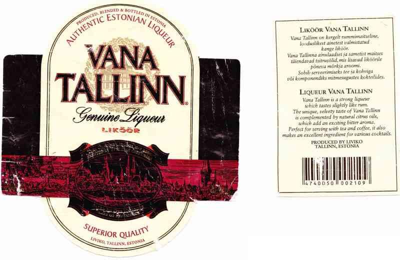 Ликер vana tallinn: описание, отзывы и стоимость