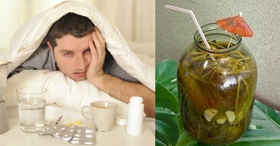 Вода с лимоном для устранения похмелья