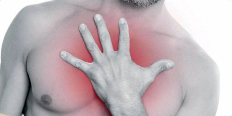 Жжение в грудной клетке (грудине) посередине: причины, симптомы, что делать