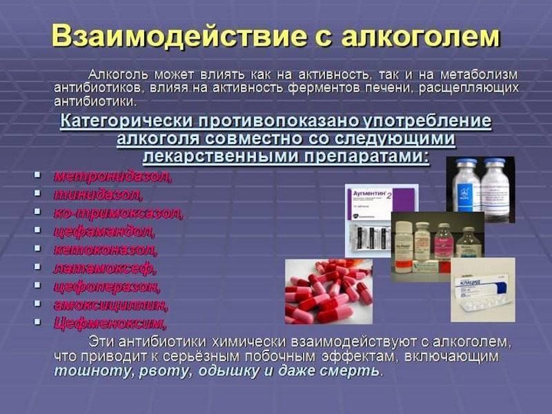 Антибиотики и алкоголь. почему нельзя сочетать спиртное и антибиотики