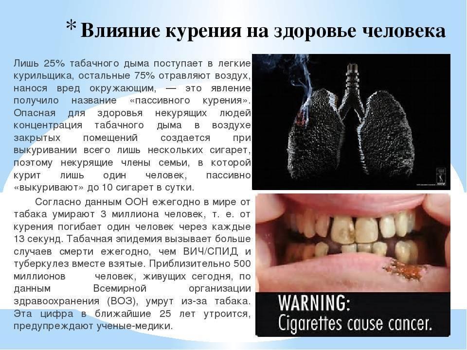 Последствия курения сигарет: фото