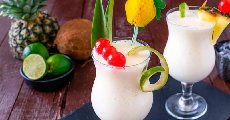 Коктейль пина колада алкогольный - рецепт, как делать без алкоголя