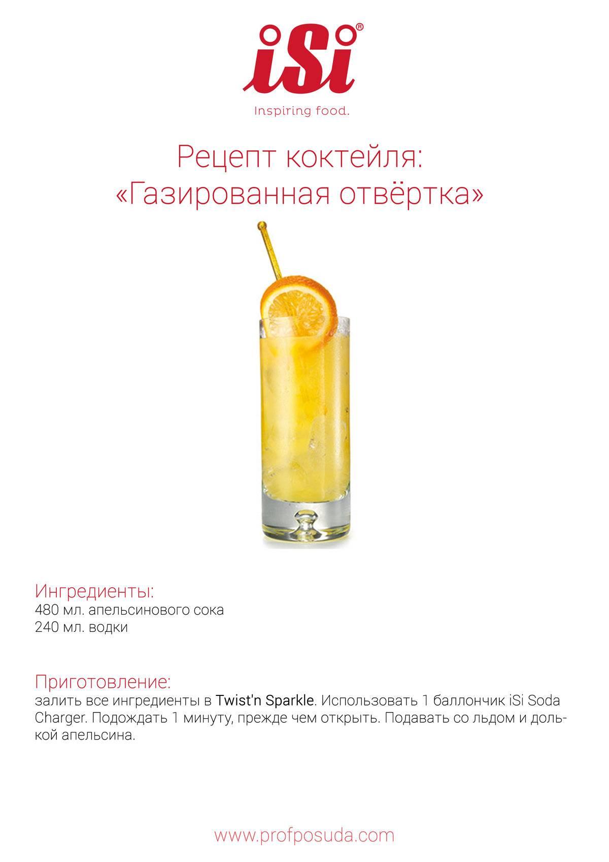 Рецепты приготовления коктейля отвертка в домашних условиях