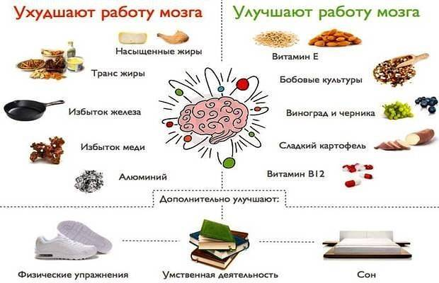 Питание при ушибе головного мозга | лечение ног
