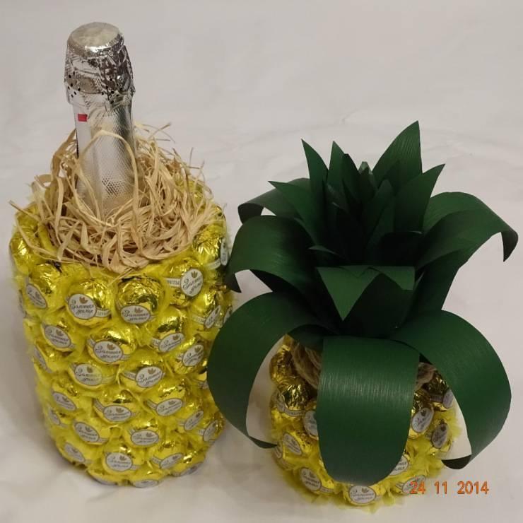 Конфетный ананас. ананас из конфет: идеи изготовления