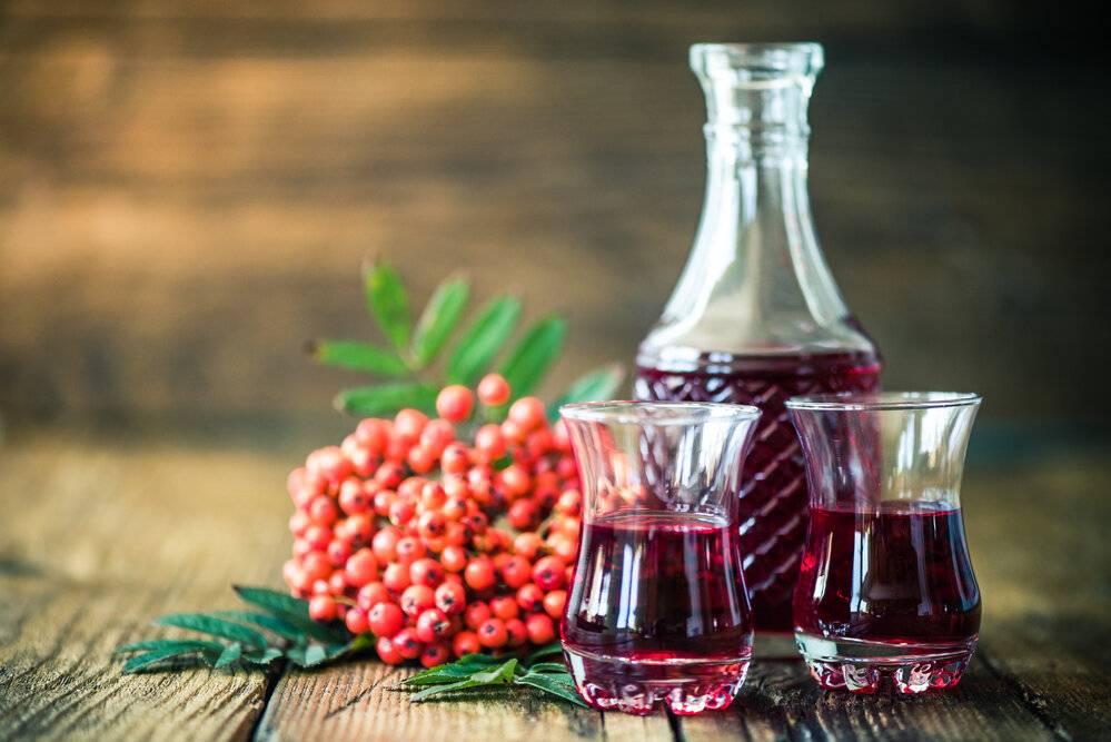 Настойка из рябины, рябиновая настойка в домашних условиях – рецепт на самогоне, водке, спирту. полезные свойства красной рябины