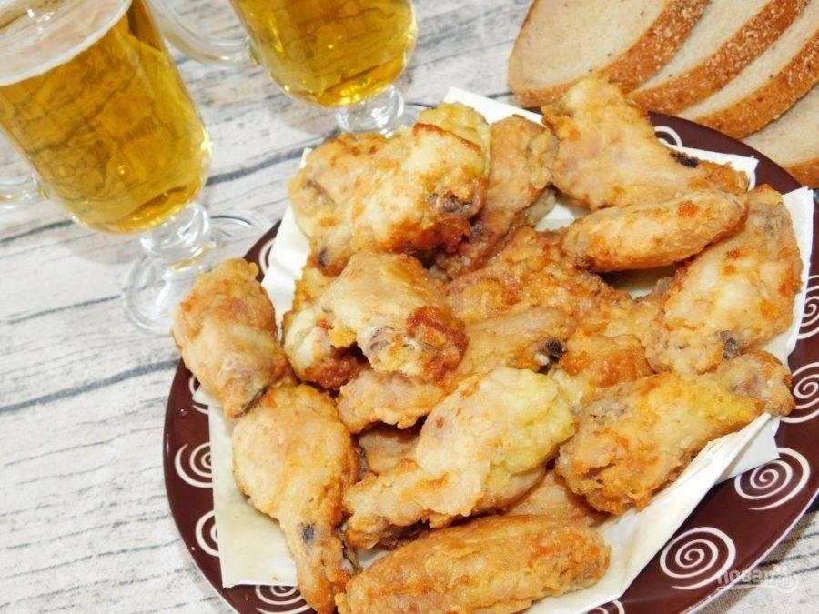 Хрустящие острые крылышки к пиву – кулинарный рецепт