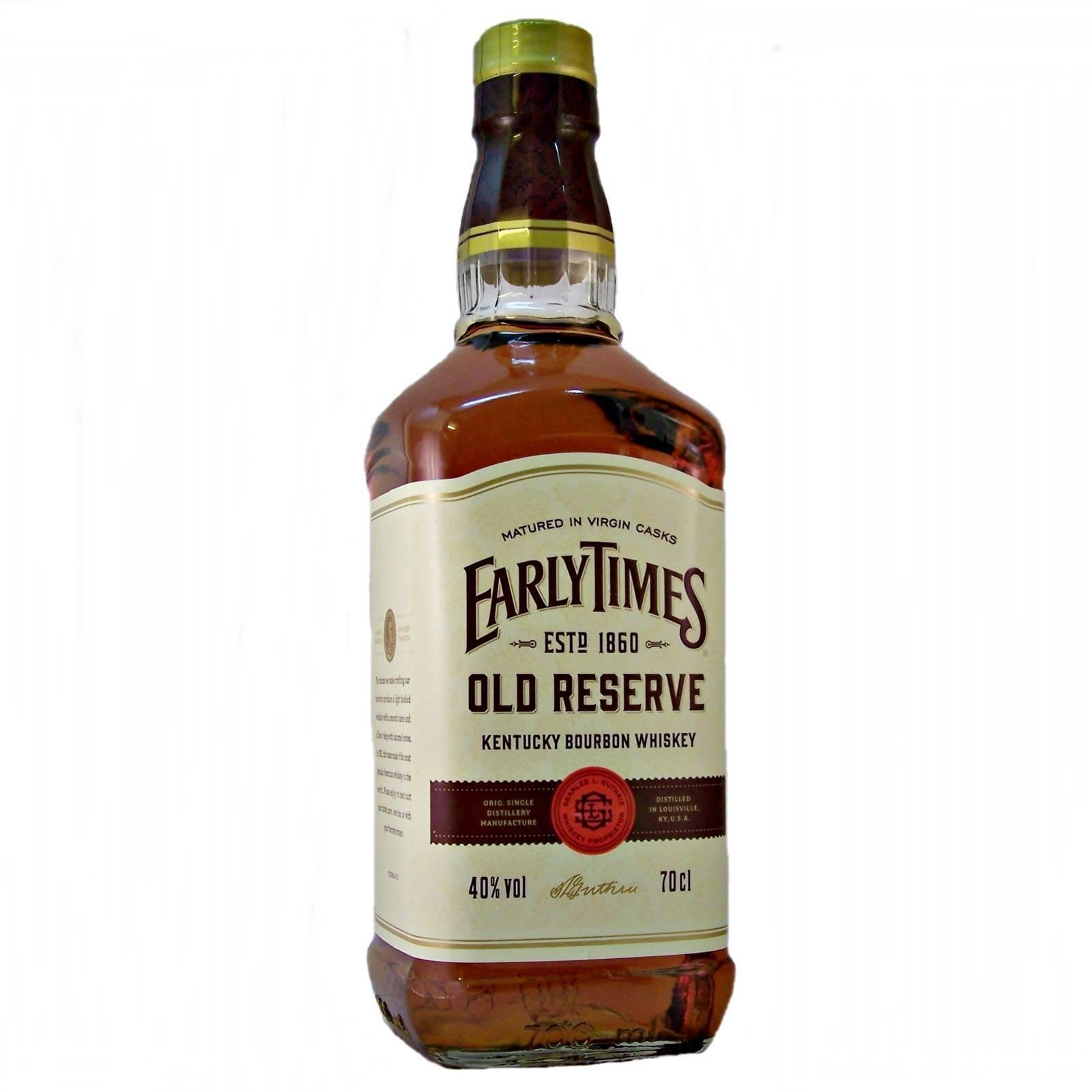 «early times»: виски, отзывы о котором вдохновляют