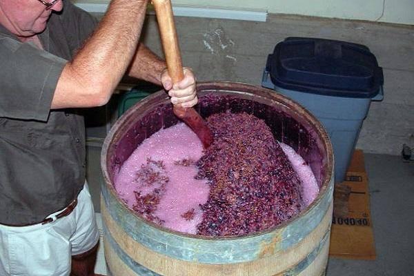 Вино из виноградного  жмыха