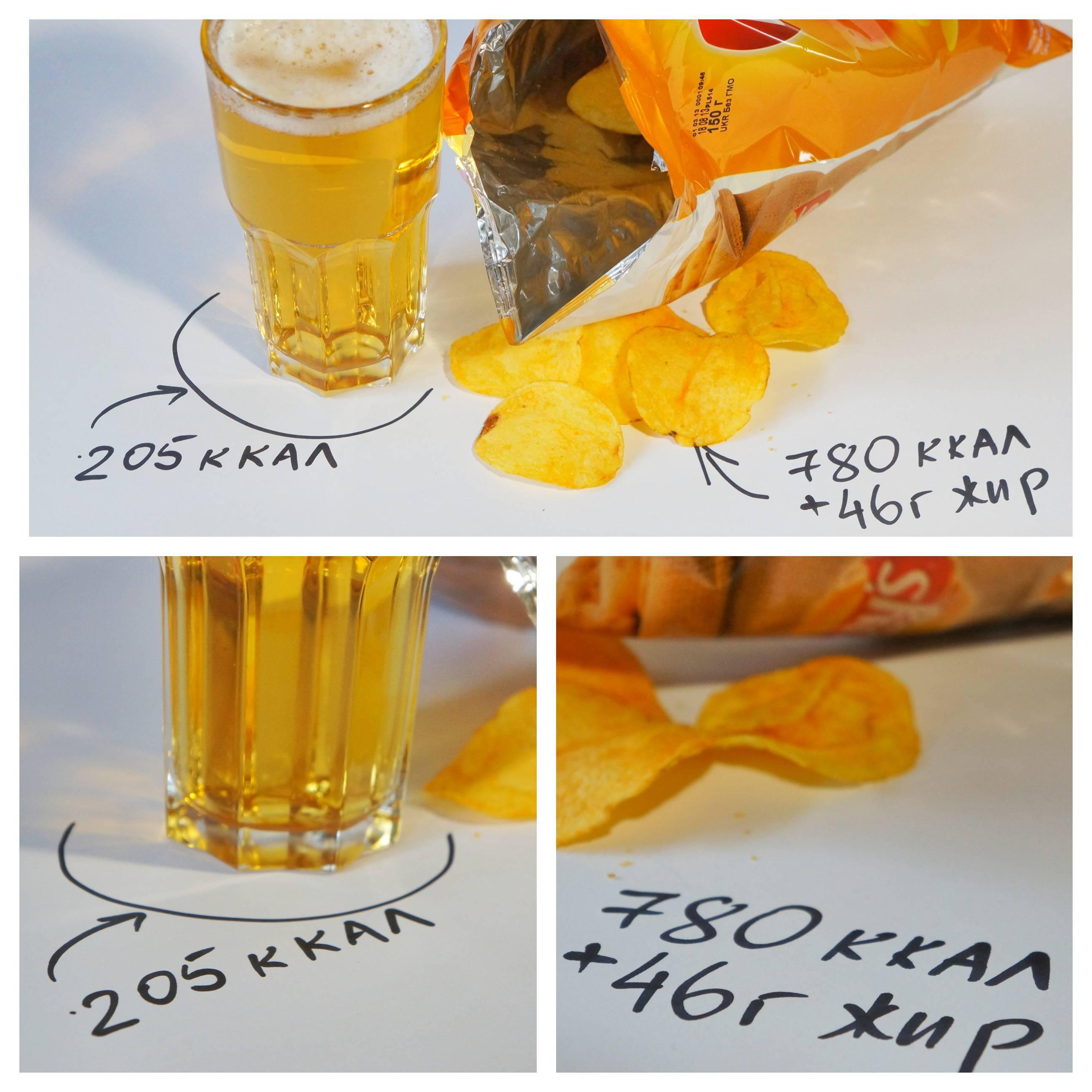 Как можно подсчитать сколько калорий в пиве
