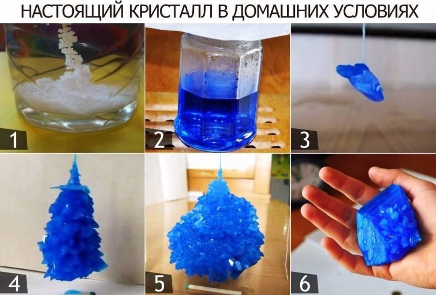 Как сделать кристалл из соли