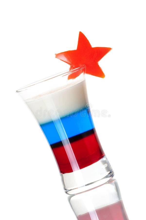 Коктейль российский флаг рецепт