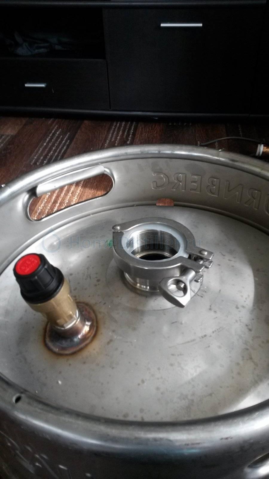 Как из пивной кеги сделать самогонный аппарат? процесс изготовления по инструкции в домашних условиях