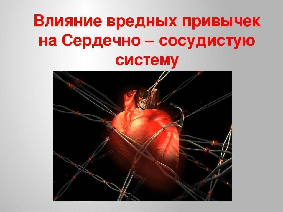 Влияние курения и алкоголя на развитие ишемической болезни сердца (ибс)