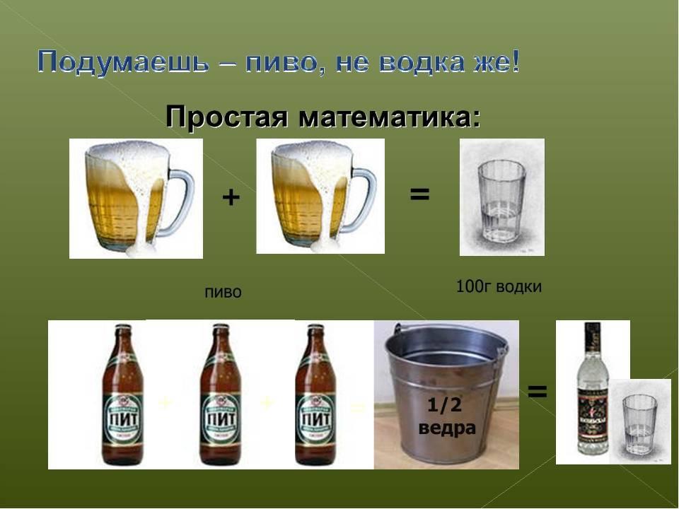 Что вреднее пить: водку или пиво   bezprivychek.ru