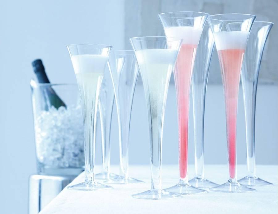 Бокалы для шампанского – хрустальные, стеклянные, серебряные и пластиковые, как правильно наливать напиток и держать фужер?
