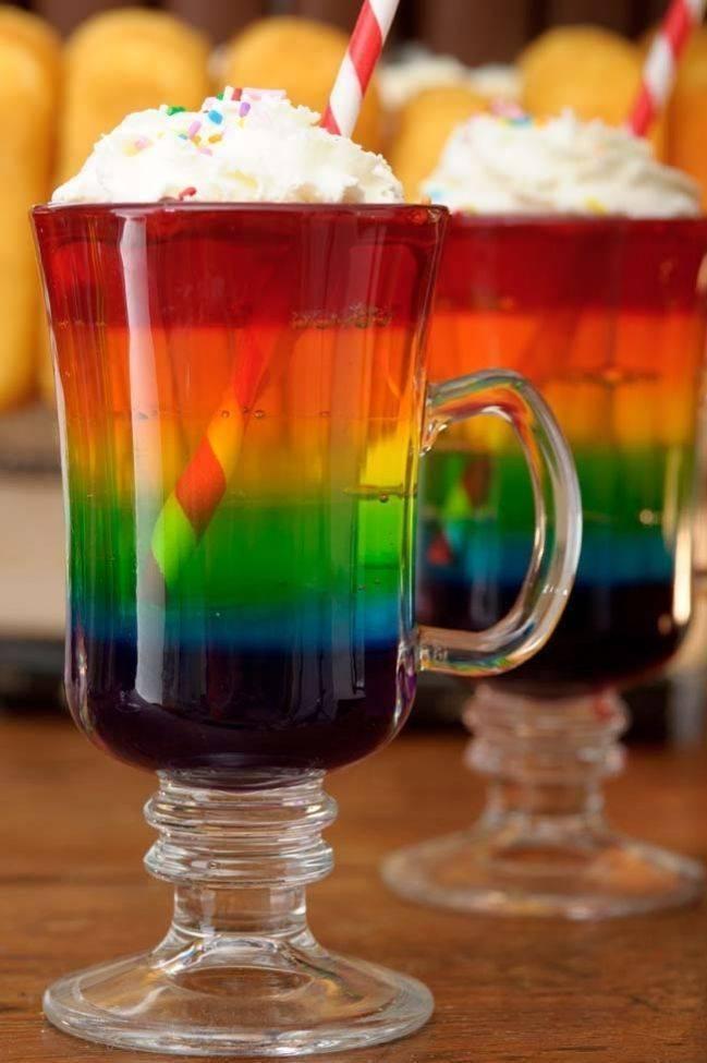"Секрет рецепта коктейля ""радуга"""