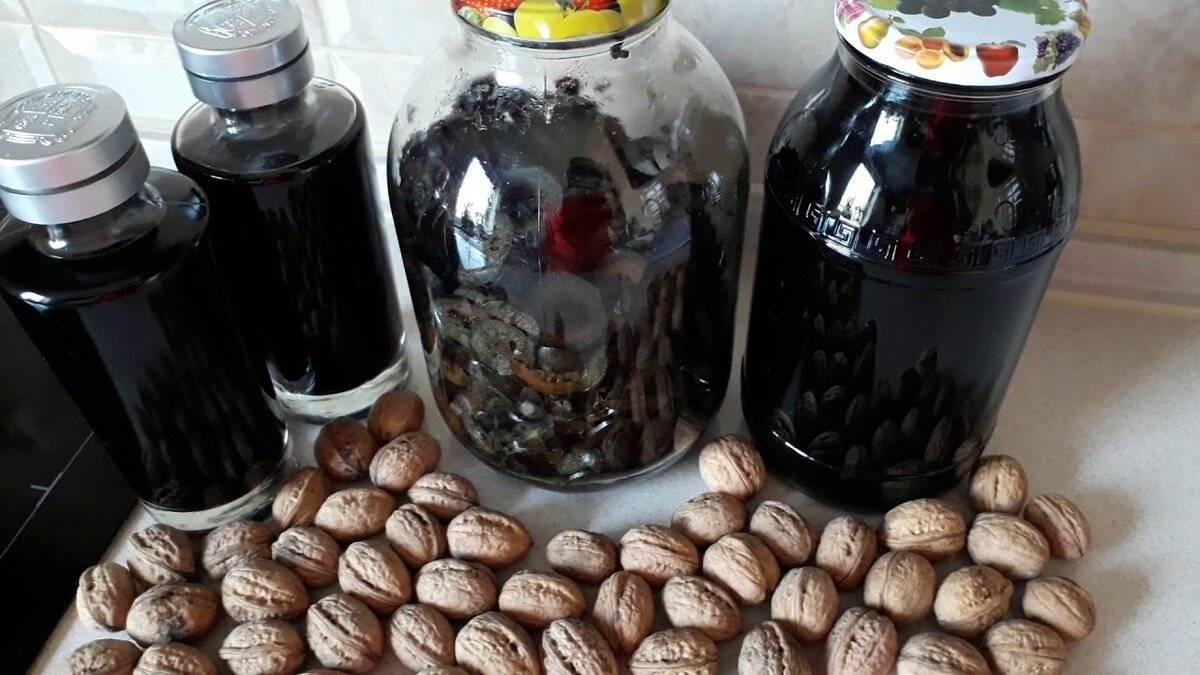 Рецепты изготовления самогона на перегородках грецких орехов