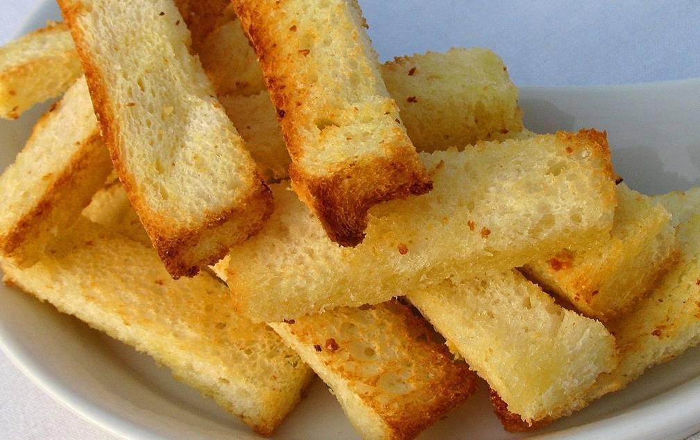 Гренки из черного хлеба рецепт с фото пошаговый