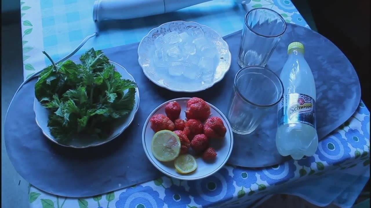 Алкогольный мохито с клубникой