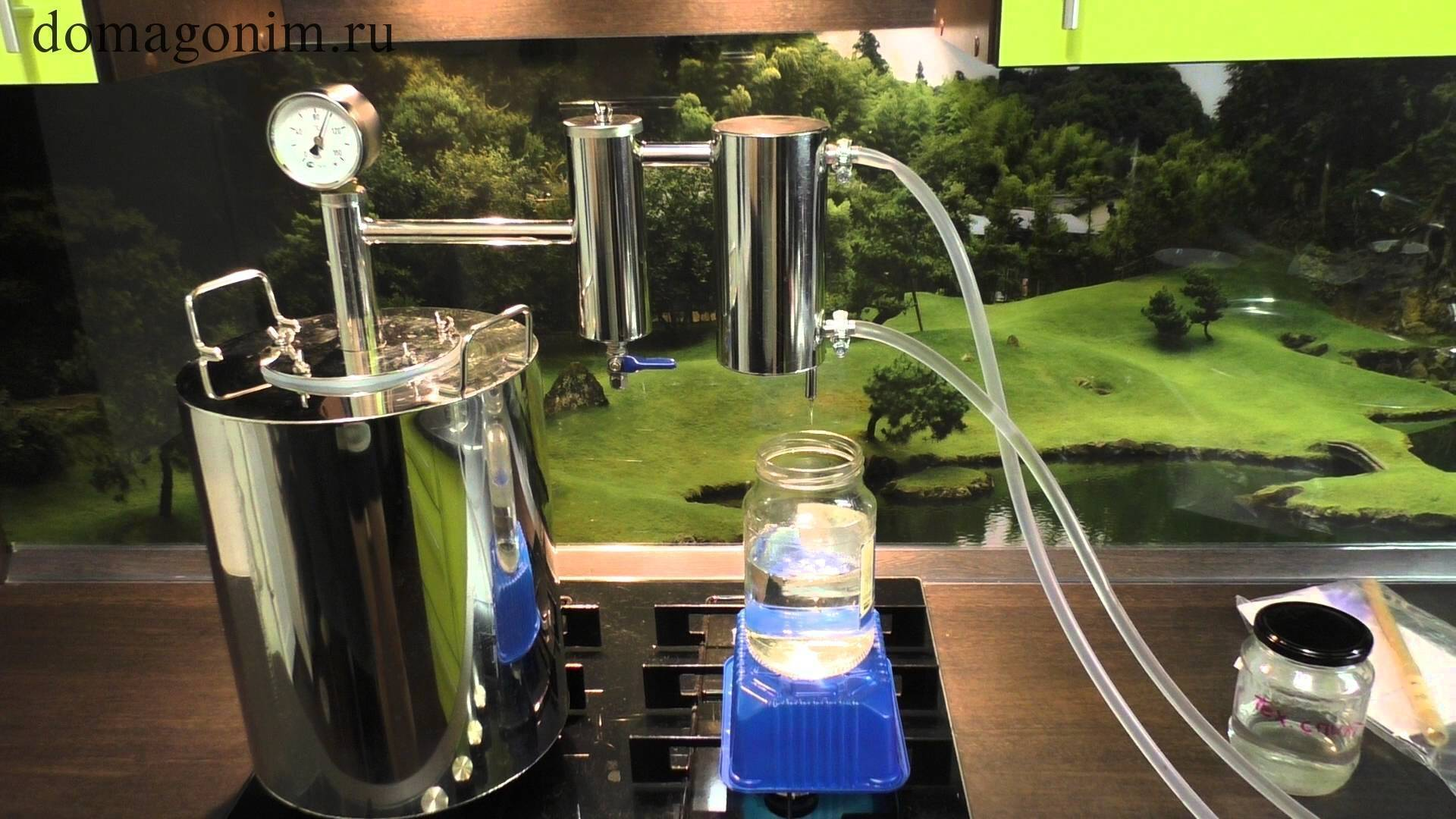 Технология и правила очистки самогона после второй перегонки