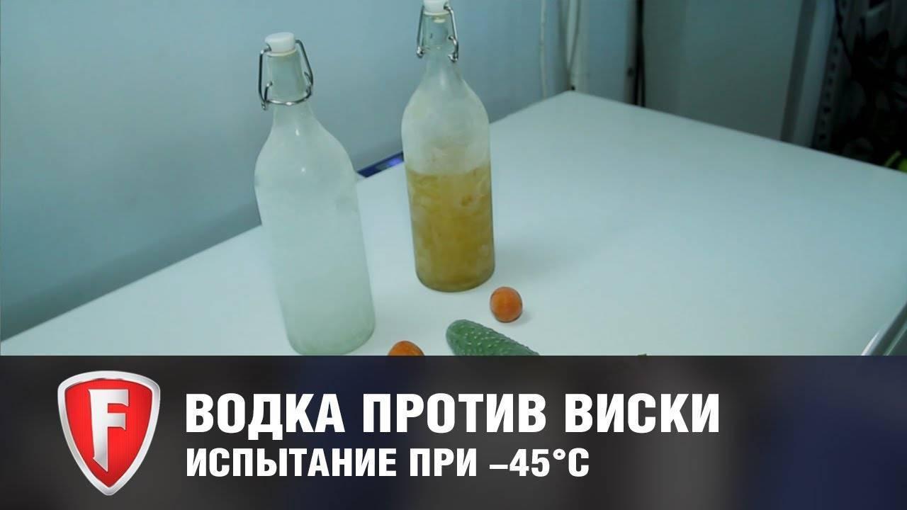 При какой температуре происходит замерзание коньяка