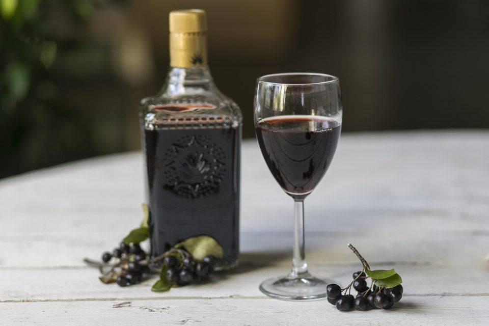 Несколько легких рецептов ликера из черноплодной и красной рябины