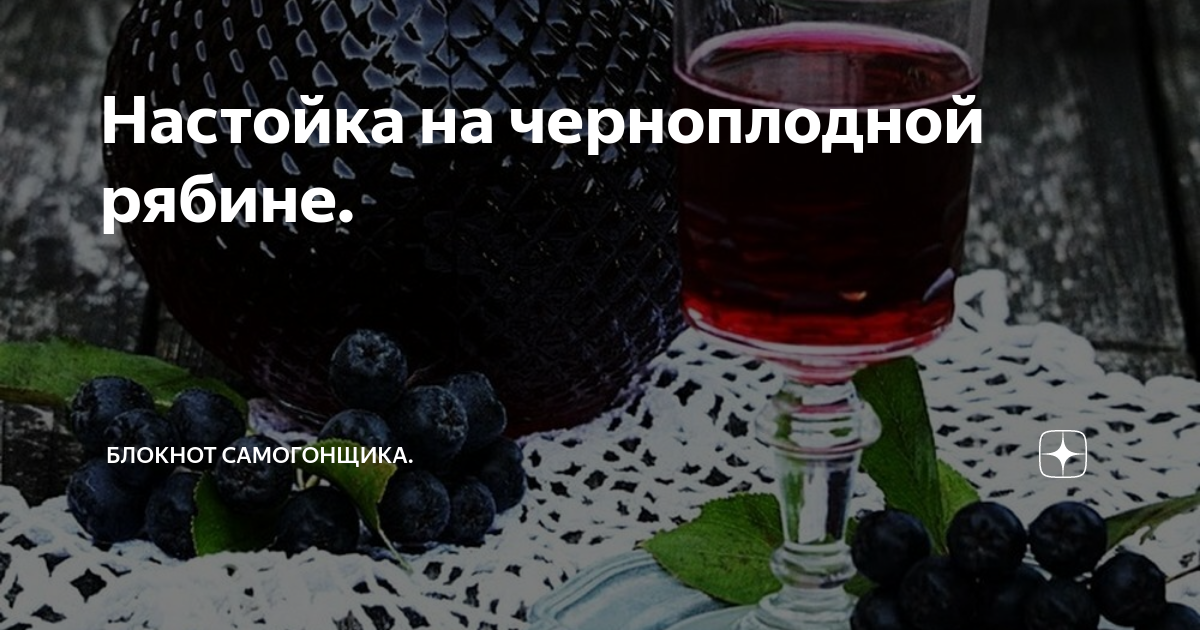 Настойка из черноплодной рябины на водке