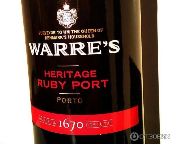 Warre s heritage ruby port - это португальский портвейн