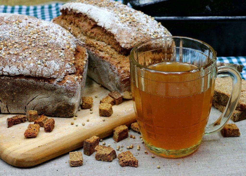 Хлебный квас - рецепты из черного, ржаного и белого хлеба