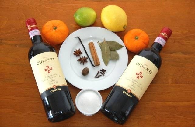Рецепты глинтвейна из красного и белого вина