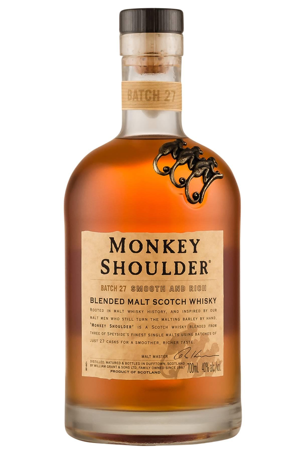 «monkey shoulder» whisky: перевод на русский язык и история напитка, а также почему виски манки шолдер так называется, какова цена плеча обезьяны за 1 литр? | mosspravki.ru