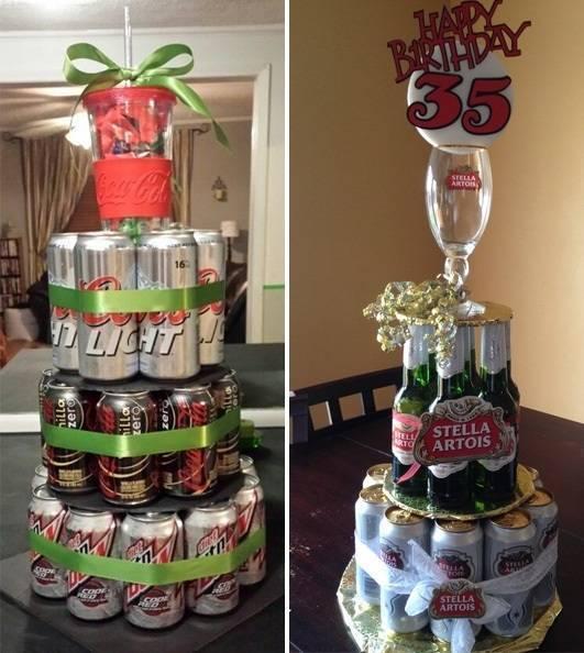 Торт из пива для мужчины на день рождения, фото