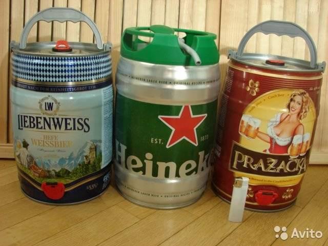 Пиво в 5-литровых бочонках