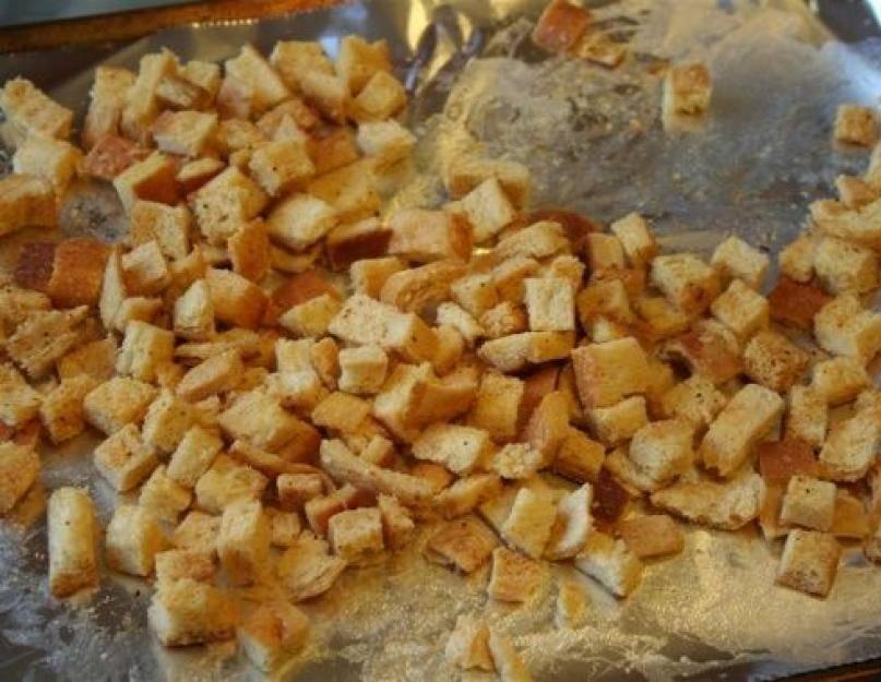 Рецепты домашних сухариков в духовке со специями и чесноком
