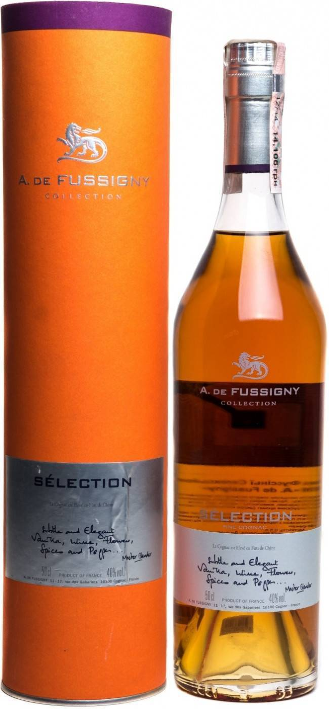 Коньяк a. de fussigny celection (а. де фюссини селекшн) – характеристика и виды напитка