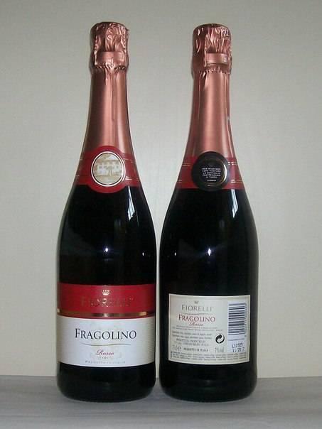 Шампанское фраголино с клубничным вкусом: чем оно отличается от классического fragolino
