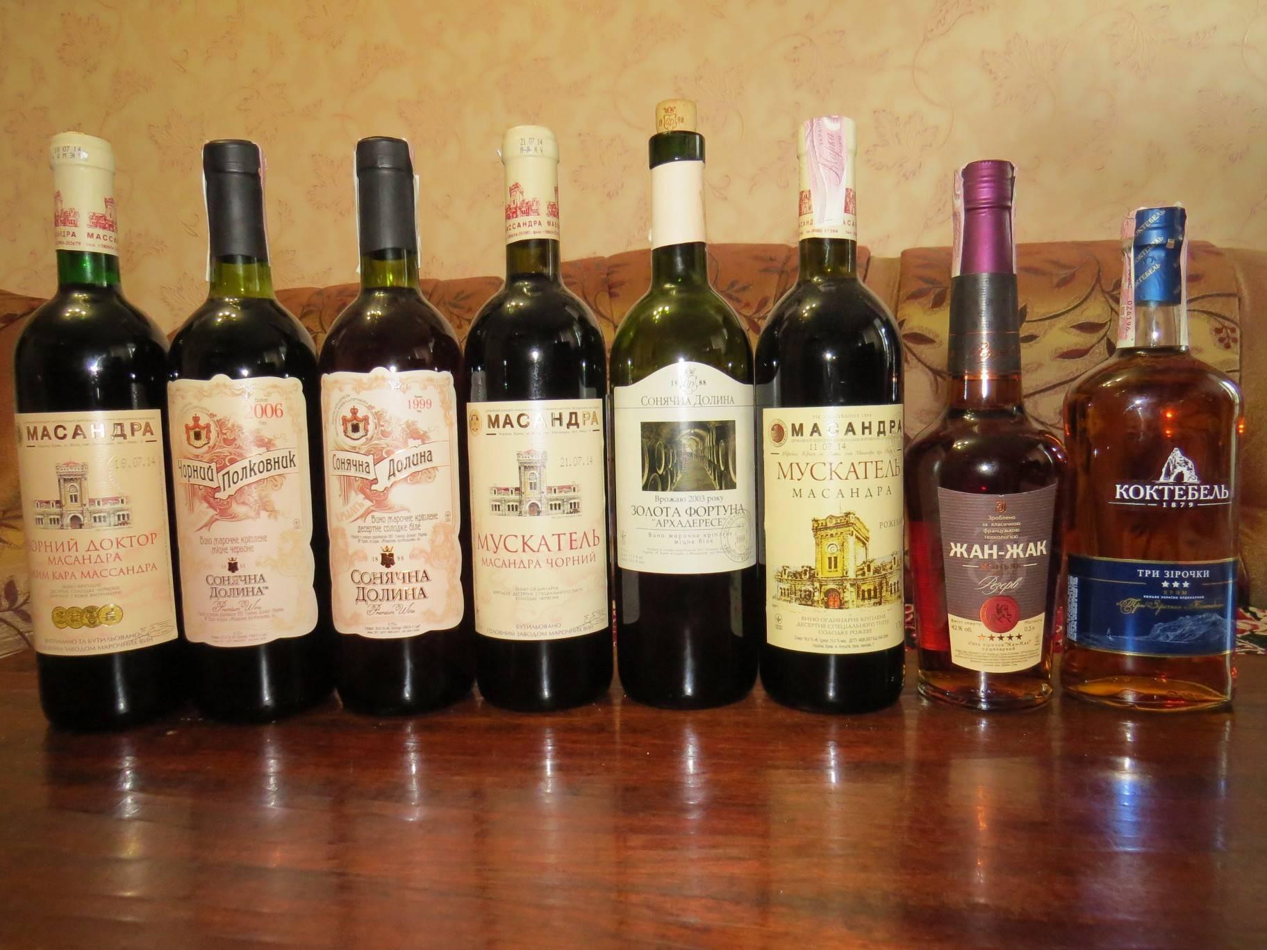 Крымские вина: красное сухое полусладкое, белое, полусухое и другие. названия, состав, вкус, цены