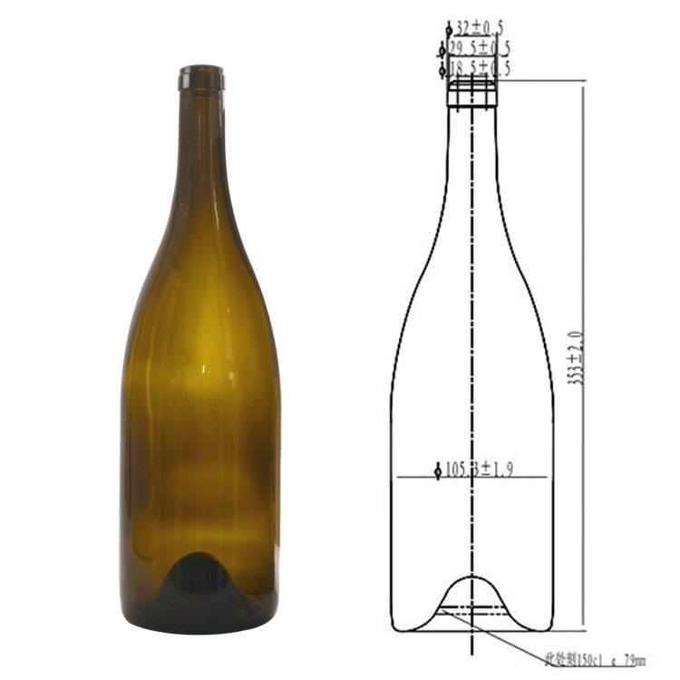 Винные бутылки: типы посуды, размеры, части, объем